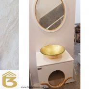 روشویی چوبی: مدل سفید طلایی
